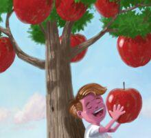 Boy with Apple Tree Sticker