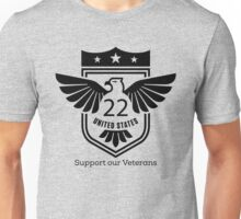 Support Our Military Veterans Eagle T Shirt Unisex T-Shirt