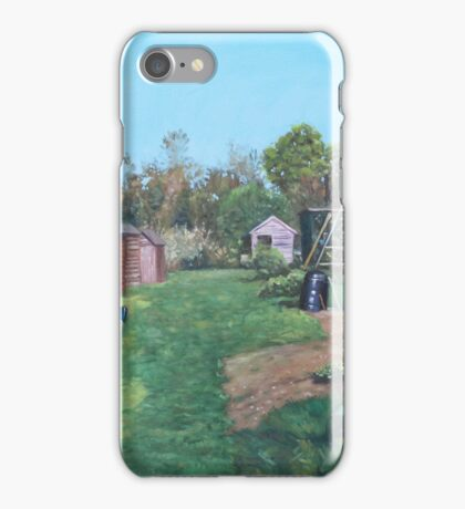 Sheds on allotments at Southampton iPhone Case/Skin