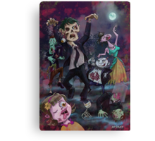 Cartoon Zombie Party Canvas Print