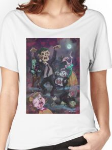Cartoon Zombie Party Women's Relaxed Fit T-Shirt