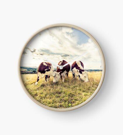Three Hungry Cows Clock