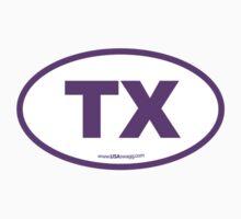Texas TX Euro Oval PURPLE Kids Clothes