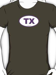 Texas TX Euro Oval PURPLE T-Shirt