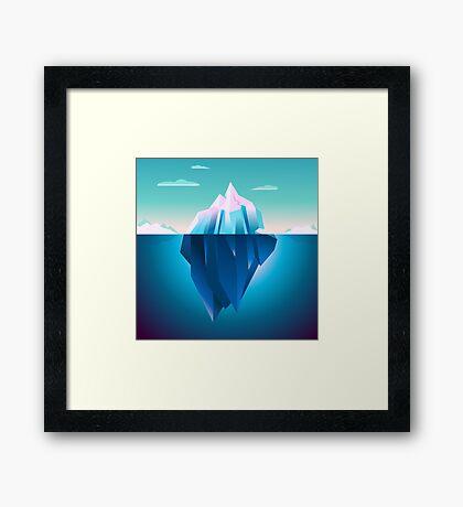 Quarz Iceberg Serenity Lowpoly Dream Framed Print