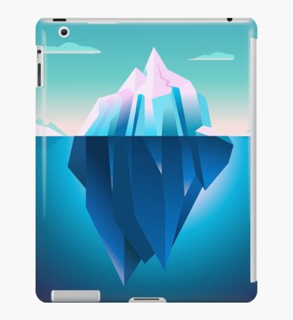 Quarz Iceberg Serenity Lowpoly Dream iPad Case/Skin