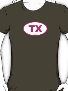 Texas TX Euro Oval PINK T-Shirt