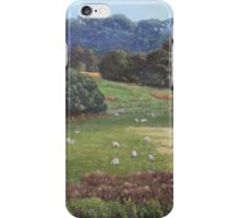 Sheep in a field in the Devon countryside iPhone Case/Skin