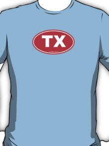 Texas TX Euro Oval RED T-Shirt