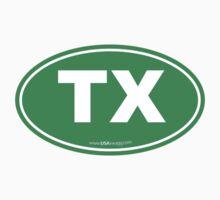 Texas TX Euro Oval GREEN by USAswagg2
