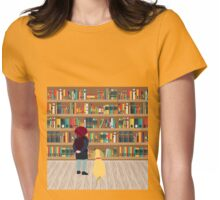 Take a book to kennel Womens Fitted T-Shirt