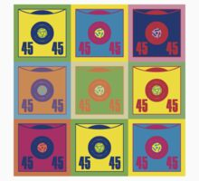 45 Record Holder Pop Art 3 by retrorebirth