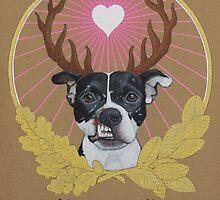 Jaggermeister - pitbull by PaperTigressArt