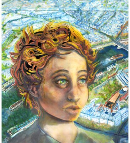 Citizen Jane, the Eiffel and the Hummingbird Sticker
