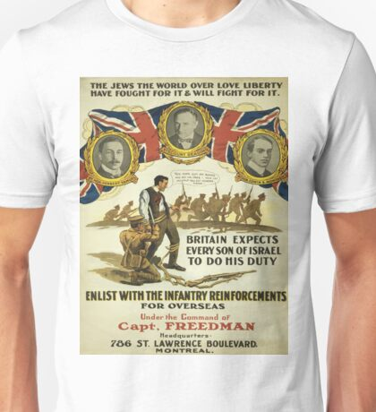 Vintage poster - British Recruiting Unisex T-Shirt