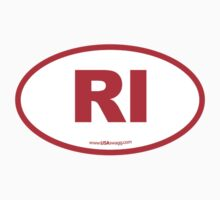 Rhode Island RI Euro Oval RED Kids Clothes