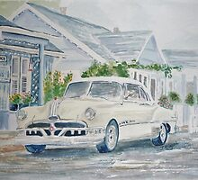 Pontiac at the Beach Motel by Jeanne Allgood