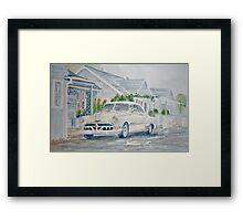 Pontiac at the Beach Motel Framed Print