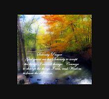 Serenity Prayer With Beautiful Autumn Scene Unisex T-Shirt