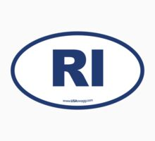 Rhode Island RI Euro Oval BLUE by USAswagg2