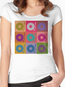 Vinyl Record Pop Art 4 Women's Fitted Scoop T-Shirt