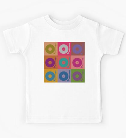Vinyl Record Pop Art 4 Kids Tee