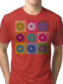Vinyl Record Pop Art 4 Tri-blend T-Shirt