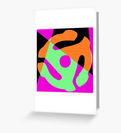 Abstract 45 Record Holder Greeting Card
