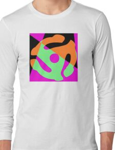 Abstract 45 Record Holder Long Sleeve T-Shirt