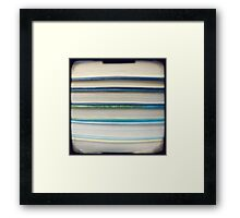 Blue book stripes Framed Print