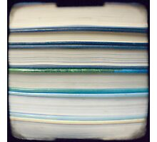 Blue book stripes Photographic Print