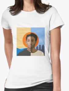 Childish Gambino we r becoming god Womens Fitted T-Shirt