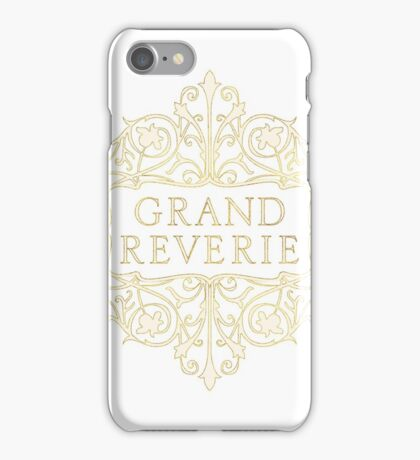 Grand Reverie Logo Print iPhone Case/Skin