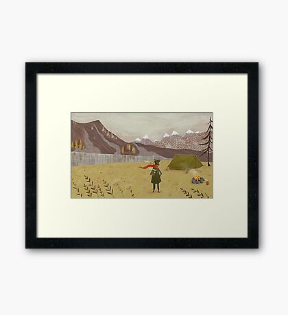far away from the Moomin valley  Framed Print