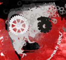 Charlie Chaplin Modern Times Machine Sticker