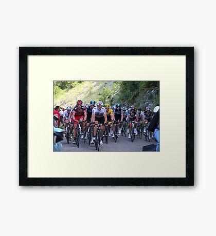 Tour de France Peloton - Col du Grand Colombier 2012 Framed Print