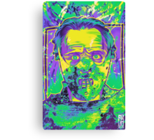 Neon Horror: Hannibal  Canvas Print