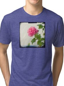 A single pink rose Tri-blend T-Shirt