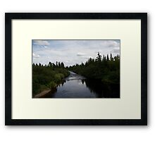 photography of a river in nova scotia Framed Print