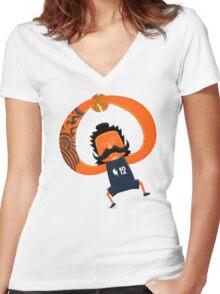 Steven Adams Haka Women's Fitted V-Neck T-Shirt