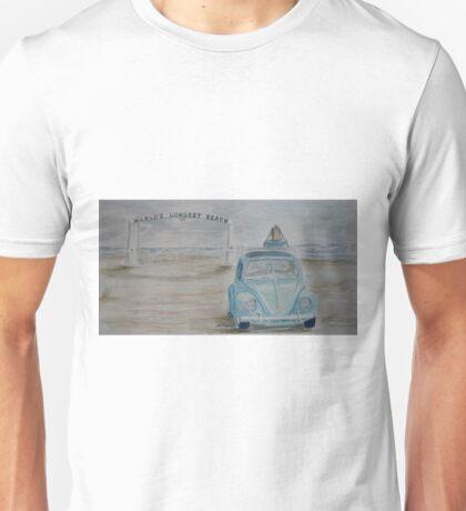 VW Vagabond on Long Beach Unisex T-Shirt