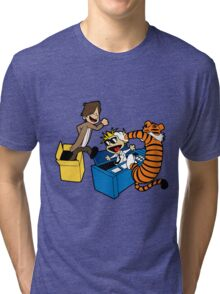 Doctor Who and Hobbes Tri-blend T-Shirt