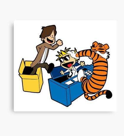 Doctor Who and Hobbes Canvas Print