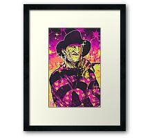 Neon Horror: Freddy  Framed Print