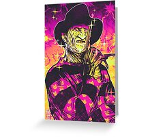 Neon Horror: Freddy  Greeting Card