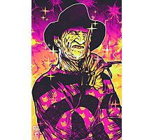 Neon Horror: Freddy  Photographic Print