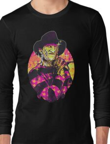 Neon Horror: Freddy  Long Sleeve T-Shirt