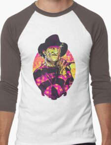 Neon Horror: Freddy  Men's Baseball ¾ T-Shirt