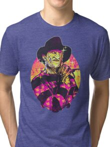 Neon Horror: Freddy  Tri-blend T-Shirt