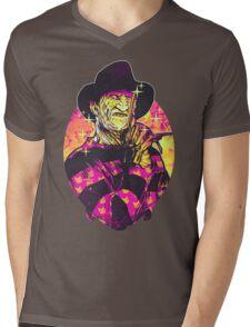 Neon Horror: Freddy  Mens V-Neck T-Shirt